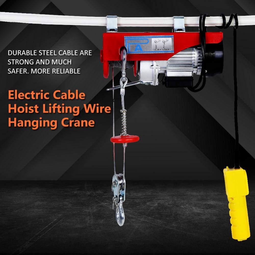 con cavo di sollevamento 220 V spina UE Paranco elettrico per cavo gru da 100 // 200 kg
