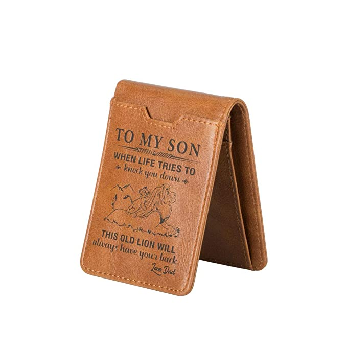 Personalized Custom Men Anniversary Birthday Gifts Embossed Leather