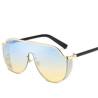 FIRM-CASE Moda Hombres camiseta clásica Gradiente gafas de ...