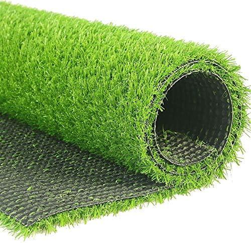 人工芝屋外緑 2 x 1メートル人工芝カーペット、犬の屋外グリーン高密度偽の芝生ペット自然でリアルな外観の庭整頓された緑豊かな10 mmの山、カットするのは簡単&シェイプ 高密度偽の芝生犬