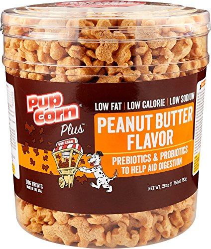 - Pupcorn Plus Puffed Dog Treats W/ Prebiotic & Probiotics