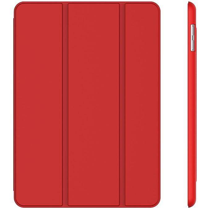 JETech Funda para iPad (9,7 Pulgadas, 2018/2017 Modelo, 6ª / 5ª generación), Carcasa con Auto-Sueño/Estela, Rojo