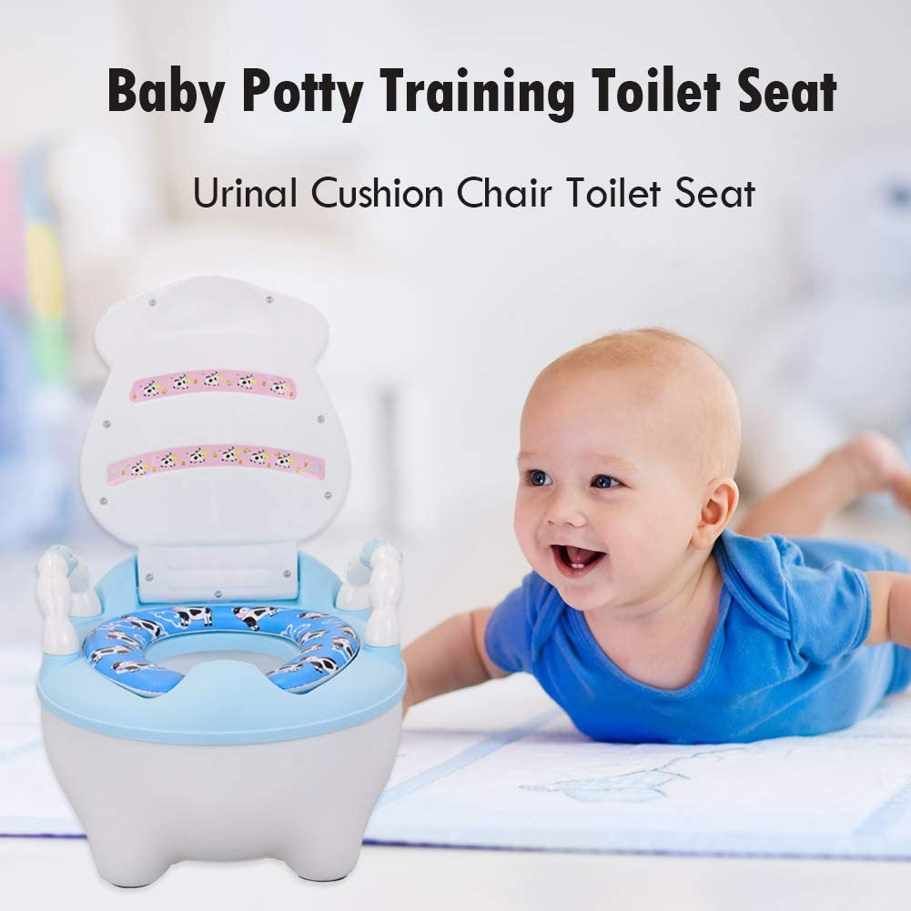 Baby Potties Seat Toddler Potty Chair Portable Kids Toilet Training Urinal Cushion Easy Clean Green