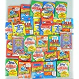TRADING_CARDS_FACTORY_SEALED  Amazon, модель 100 Vintage Baseball Cards in Old Sealed Wax Packs - Perfect for New Collectors, артикул B00BX8PO6I