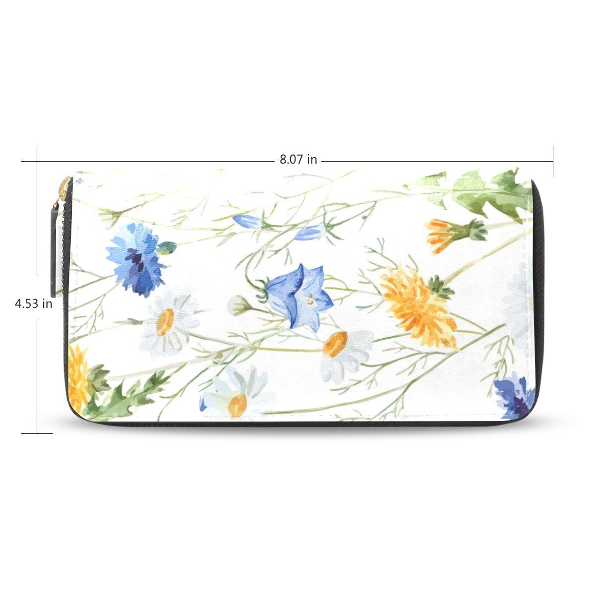 フラミンゴWomensリーフフラワーパターン長財布&財布ケースカードホルダー B01LELGLN8
