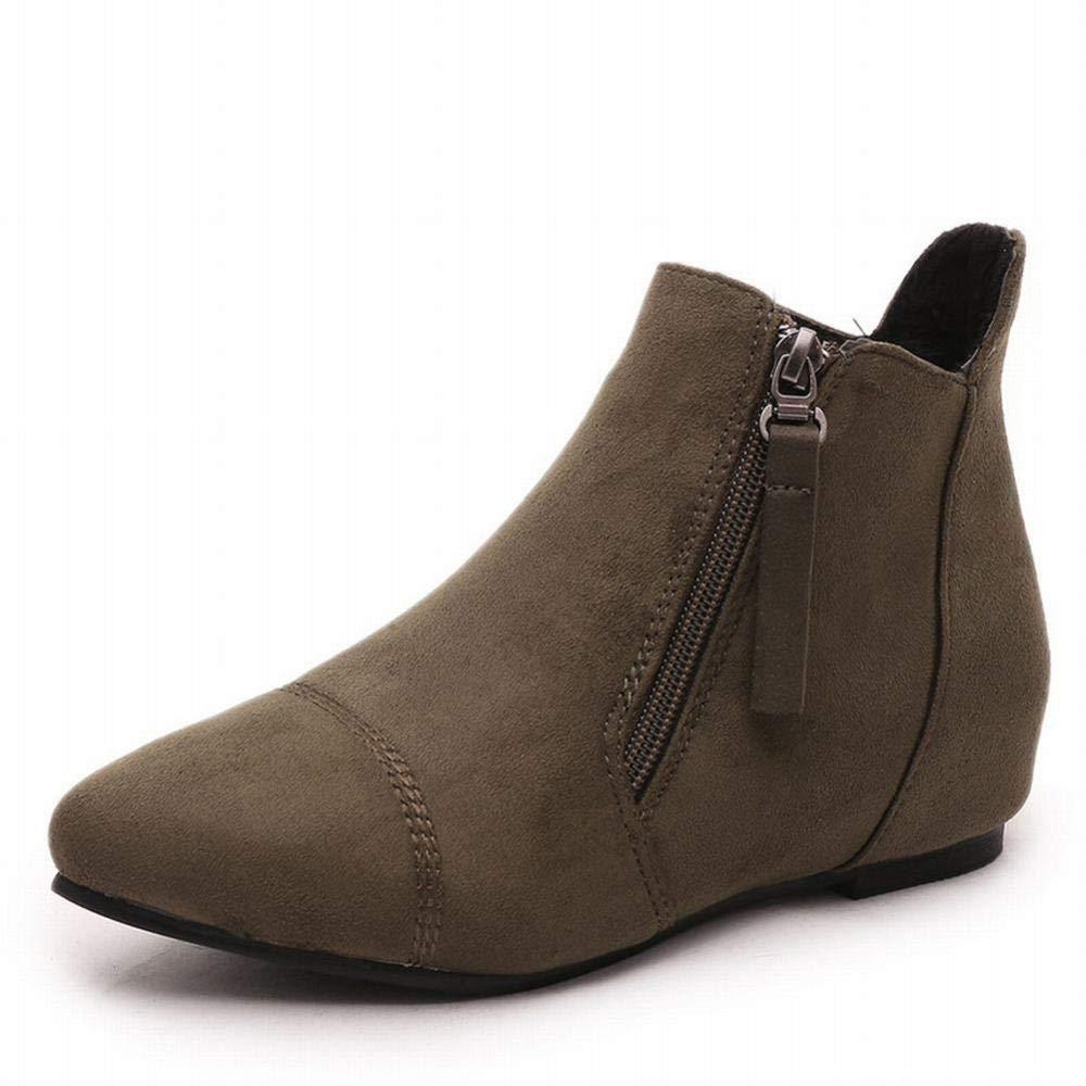 GZ Damenschuhe - Damen Stiefel Im Herbst Und Winter Mode Warme Martin Stiefel Spitz Dick Mit Damen Stiefeln 36-43