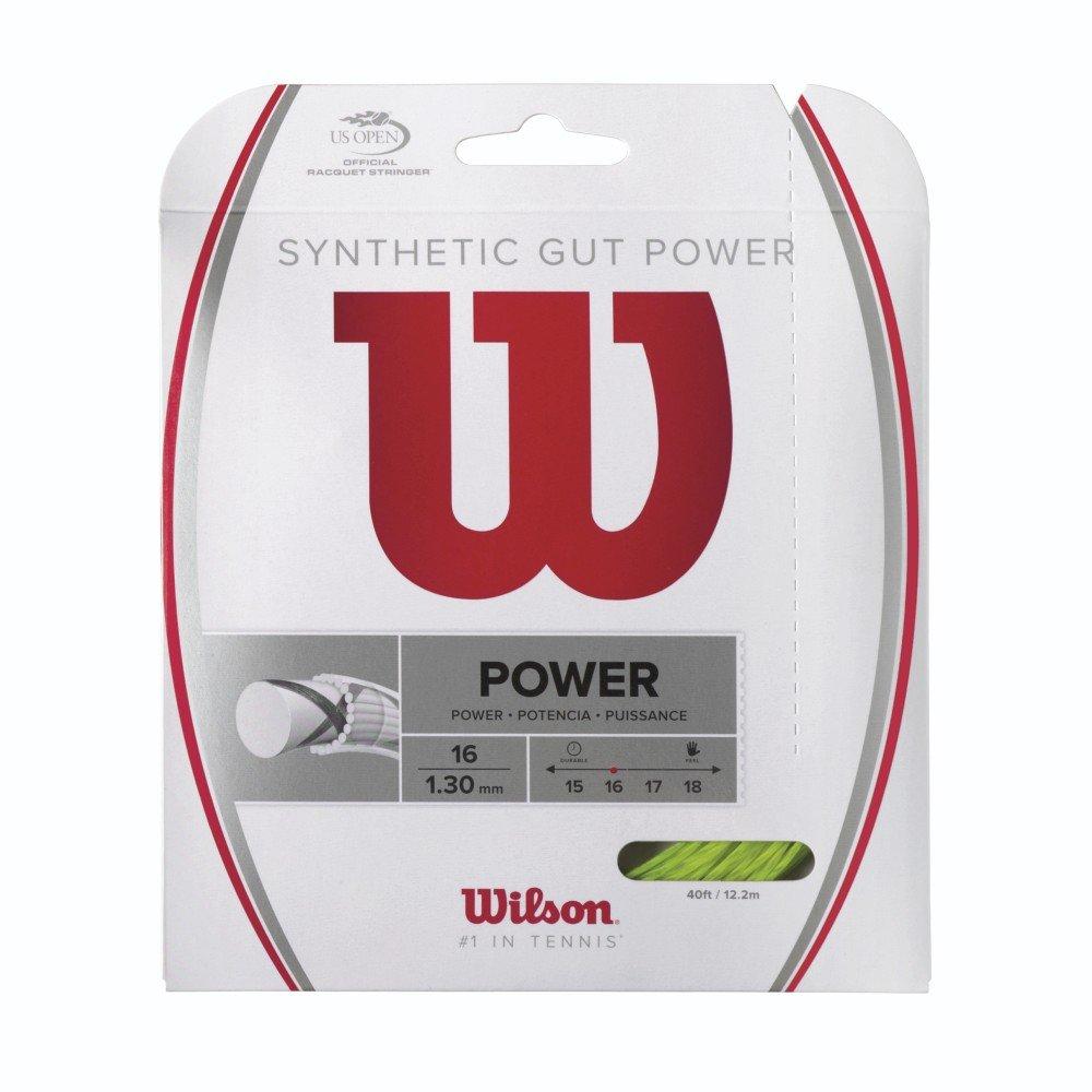 Wilson WRZ945800 Synthetic Gut Power 16 Pink Racquet String Wilson- Racket Sports