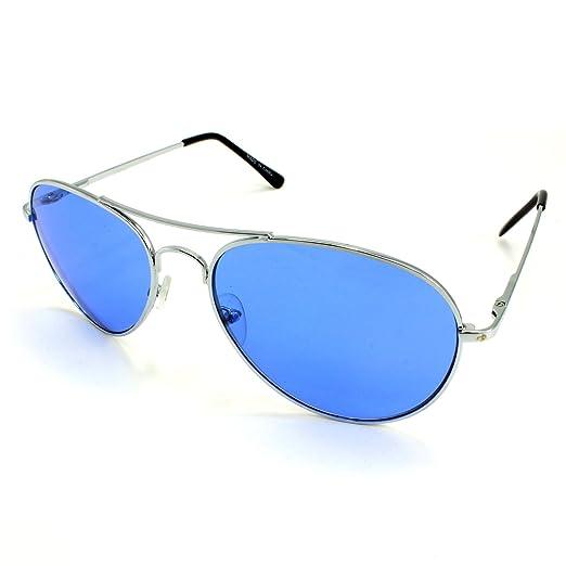 8a911c4b287 Enimay Mens The Hangover Bradley Cooper Colored Aviator Poker Sunglasses  Blue