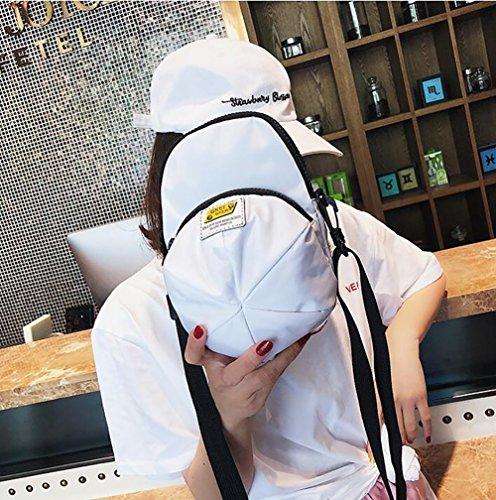 Hombro Sombrero Las Bolso Lona Qiulv Crossbody Tapa Personalidad De Blanca Forma Bolso En De Mujeres De HRwnq