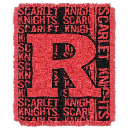 The Northwest Company Officially Licensed NCAA Rutgers Scarlet Knights Double Play Jacquard Throw Blanket, 48