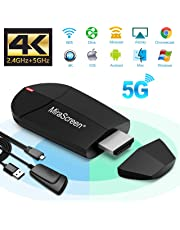 Weeygo WiFi Dongle Hdmi Display, 4k HD adaptateurhdmi sans Fil - 2.4G 5G Mini WiFi Récepteur TV Affichage Moniteur