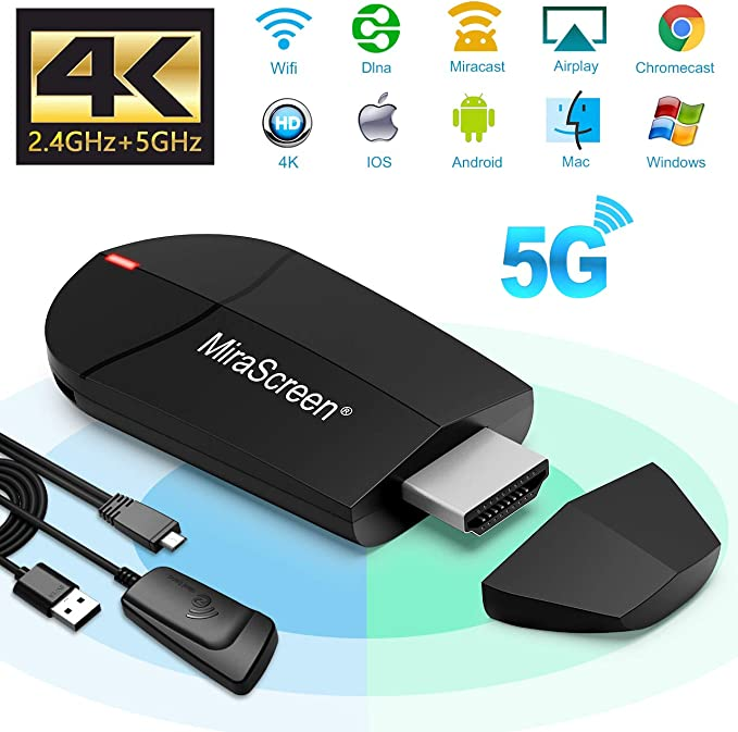 Weeygo Dongle – Adaptador de Pantalla HDMI inalámbrico de 2,4 G + ...