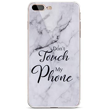 coque iphone 8 plus silicone marbre