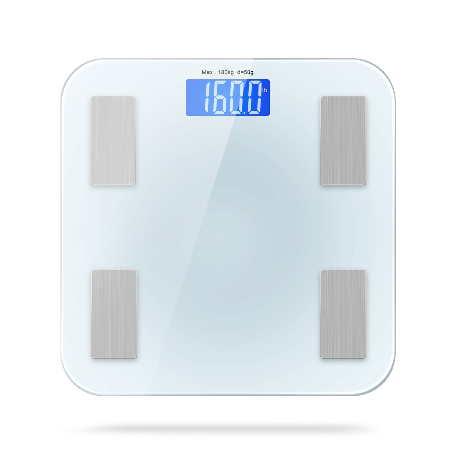 Adoric Smart Scale Bathroom Scale with Free APP for Android and IOS, Body Composition Analysis Measuring Weight, Bone, Water, Muscle, Fat, BMI, BMR by Adoric (Image #7)