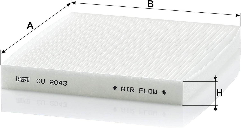 interior espacio aéreo Mann-Filter cu 2043 adecuado para mazda 1 filtro