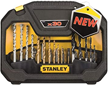 Stanley STA7183-XJ Juego de brocas 30pieza(s) broca - Brocas (Taladro, Juego de brocas, Albañilería, Metal, Madera, 3/4/5/6/8, 1,5/2/2,5/3/3,5/4/5/6, 5/6/7/8): Amazon.es: Bricolaje y herramientas
