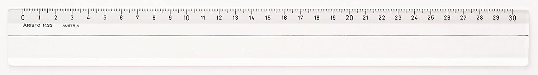 glasklar Aristo AR1435 Lineal Plexiglas, 50 cm