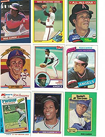 Rod Carew / 30 Different Baseball Cards featuring Rod Carew - Rod Carew Baseball Card