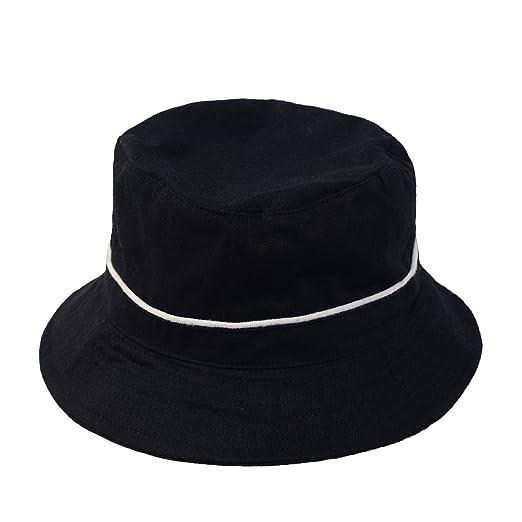 b4abeaa895c Classic Simple Cotton Bucket Hats (Black L XL) at Amazon Men s Clothing  store