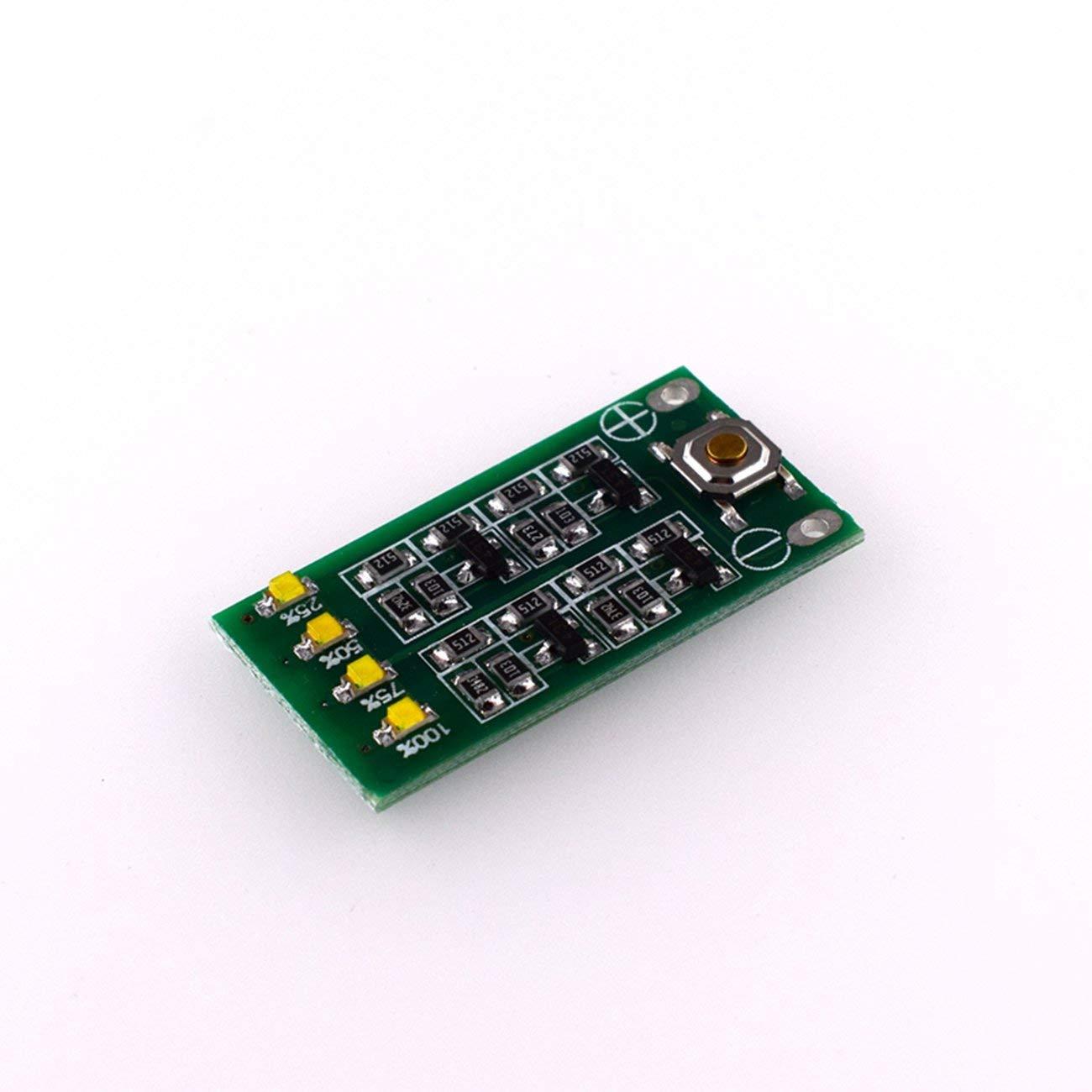 Scheda dellindicatore del pannello di alimentazione elettrica del pannello del tester di batteria al litio HW-680 per batteria al litio dello Li-ione di 3pcs verde