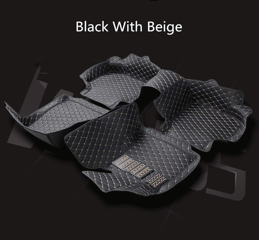 for Mazda CX-3 2015-2019 Floor Mats Custom All Full Surrounded Cargo Liner All Weather Waterpoof Anti-Slip Left Driving Black and Red