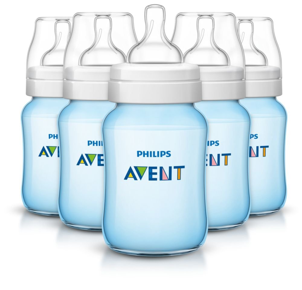 Philips Avent Anti-Colic Baby Bottles, Blue, 9 Ounce (5 Count)