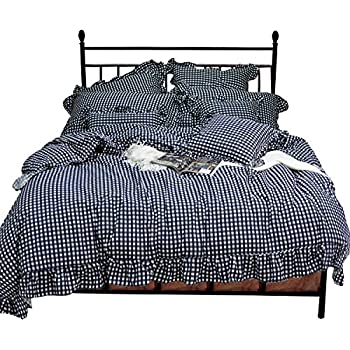 Amazon Com Tealp Plaid Check Simple Gingham Bedding 3