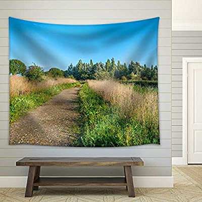 Beautiful Object of Art, Made For You, Path Through a Sunny Field in Summer Fabric Wall