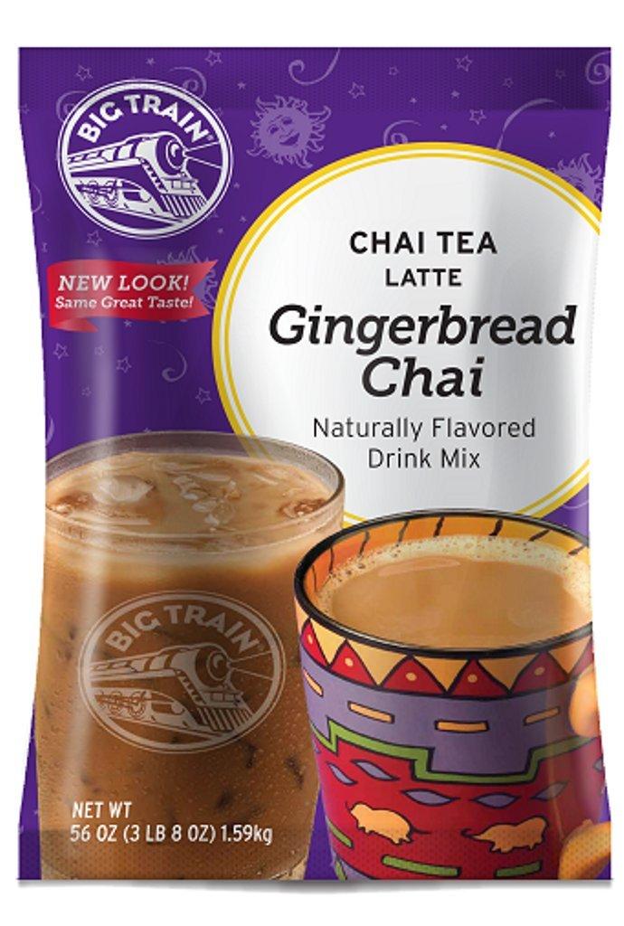 Big Train Chai Tea Latte, Gingerbread, 3.5 Pound, Powdered Instant Chai Tea Latte Mix, Spiced Black Tea with Milk, For Home, Café, Coffee Shop, Restaurant Use by Big Train