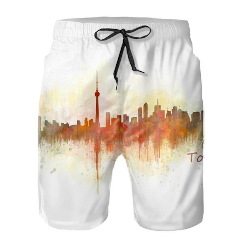 Toronto Quick Dry Swim Trunks Summer Beach Shorts Running Board Shorts