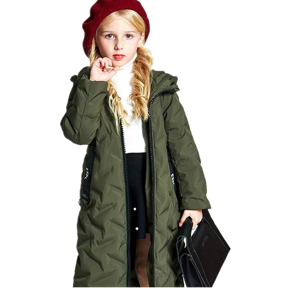 vert 120cm YZ-HODC Les Filles d'enfants réchauffent la Longue Veste en Duvet, vêteHommests de Style Doux, Manteau d'hiver idéal pour Enfants