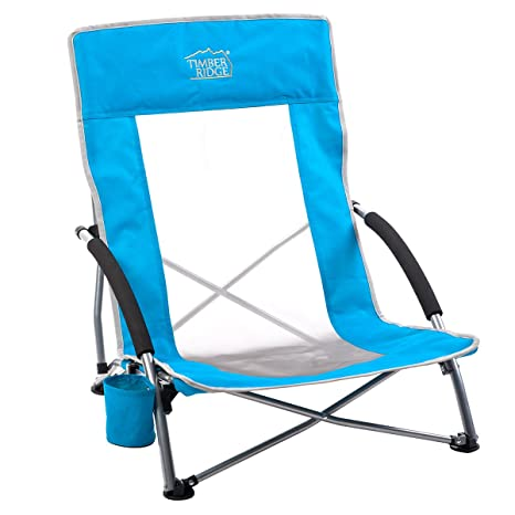 Timber Ridge Beach Chair Outdoor Portable with Carry Bag Low Sling Easy Folding Lightweight Cooler Mesh  sc 1 st  Amazon.com & Amazon.com : Timber Ridge Beach Chair Outdoor Portable with Carry ...