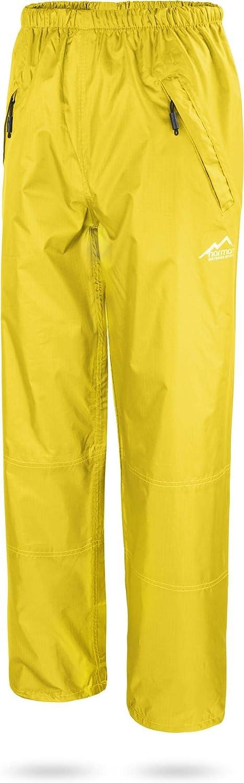 normani Unisex Regenhose 6000 mm wasserdicht Winddicht und atmungsaktiv mit Rei/ßverschlusstaschen f/ür Damen und Herren Farbe Schwarz Gr/ö/ße S