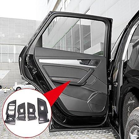 Noir Flying High ABS Int/érieur en Fen/être Porte Ascenseur pour accoudoir Bouton 4pcs pour Q5 Second Generation 2018 Accessoire de Voiture ADQ518