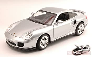 BURAGO BU12030S PORSCHE 911 TURBO 2000 SILVER 1:18 MODELLINO DIE CAST MODEL