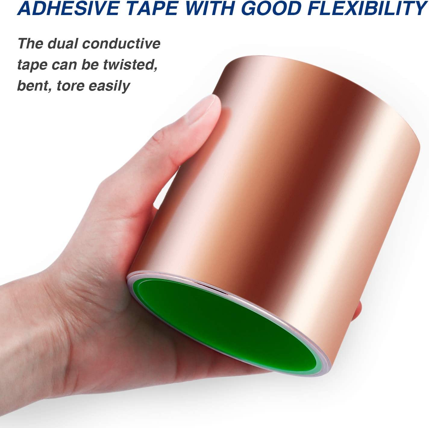 Electrical Repairs Grounding LOVIMAG Copper Foil Tape with Conductive Adhesive for Guitar and EMI Shielding 4inch X 16 FT Slug Repellent Crafts
