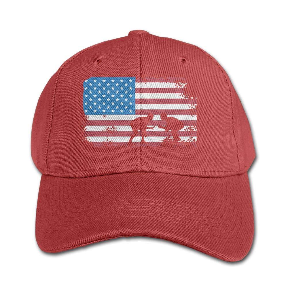 KIDSCAP American Flag Wrestling Boys Girls Adjustable Snapback Curved Visor Washed Dyed Cotton Ball Hat Toddler Baseball Hat by KIDSCAP