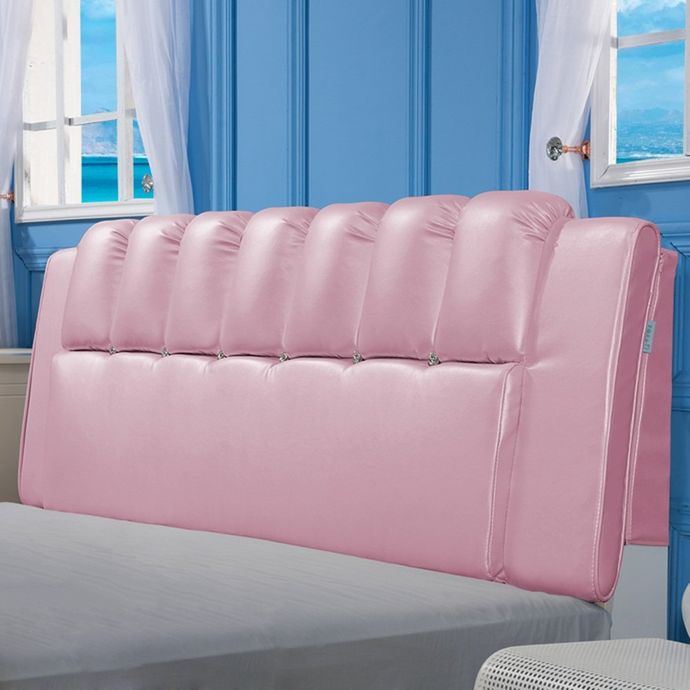4  With headboard-120cm WENZHE Upholstered Fabric Headboard Bedside Cushion Pads Cover Bed Wedges Backrest Waist Pad Soft Case Double Bed Bed Cover Home Bedroom Large Back Sofa Pillow Easy To Clean Multifunction, There Is Headboard   No Headboard, 6 color