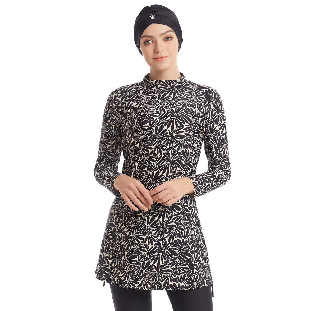 seafanny Damen Muslimische Bademode Islamischer Badeanzug 3-teilig Ganzbezug Hijab Burkini bescheidener Badeanzug
