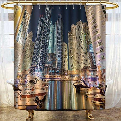 Price comparison product image Analisahome Fabric Shower Curtain Dubai AUGUST,Dubai Marina district on August in UAE Dubai is fastly for Bathroom/W48 x L72