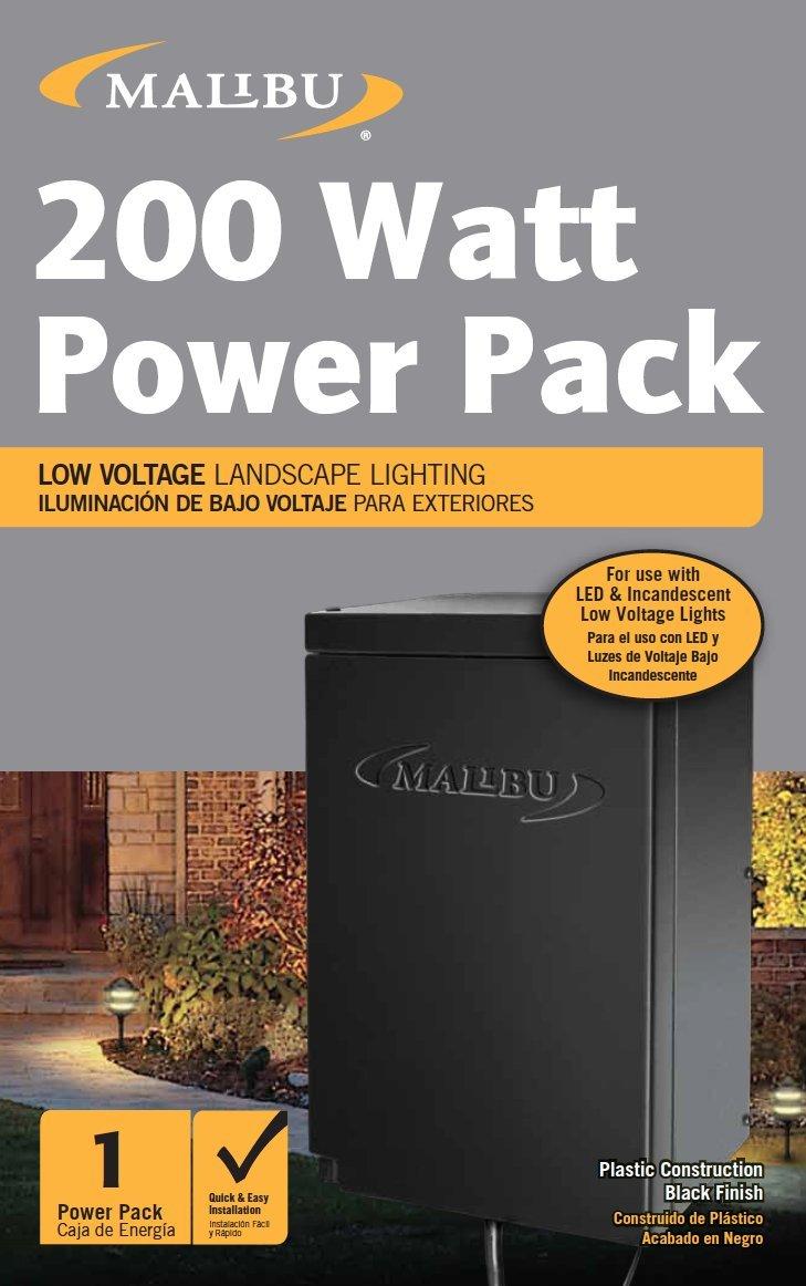 image for Malibu 200 Watt Power Pack with Sensor and Weather Shield for Low Voltage Landscape Lighting Spotlight Outdoor Transformer 120V Input 12V Output
