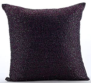 Amazon Com Plum Throw Pillows Cover For Couch Beaded