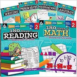 Amazoncom 180 Days Of Second Grade Practice 6 Book Set 180 Days