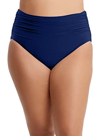 b0a0dd7511fd4 Magic Suit Solids Jersey Brief Swim Bottom with Shirring (6003059) 8/Navy