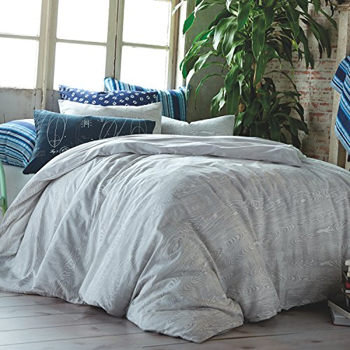 Hang Ten Woodgrain Reversible Cotton Duvet Cover Set, Grey, Twin by Hang Ten (Image #2)