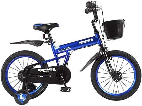 WGYEREAM Bicicleta para Niños, Bicicleta Infantil, Bicicletas niños Bicicleta de los niños de 2-7 años, niño de la Bicicleta con Las Ruedas de Entrenamiento y de la Mano Frenos, el 95% montado: