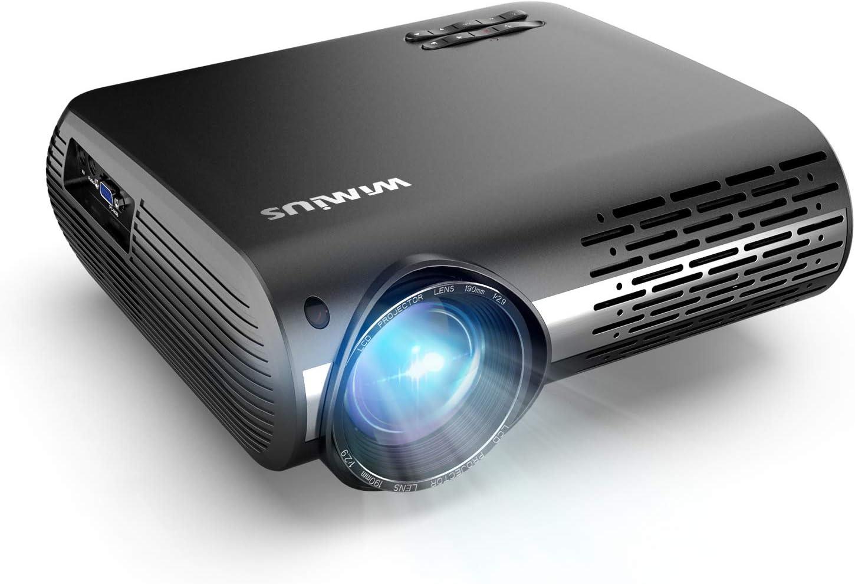 WiMiUS Proyector Full HD 1080P para Cine en Casa Sonido Estéreo Hi ...