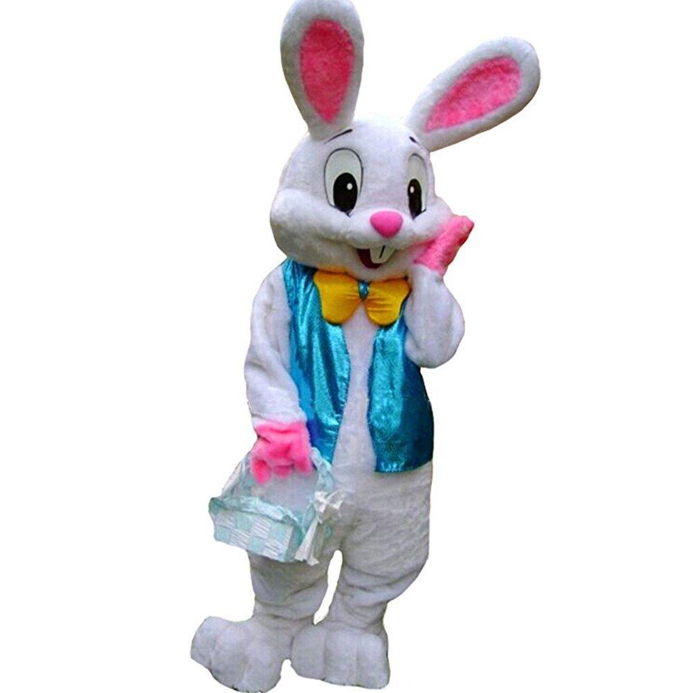 Deluxe Plush Easter Bunny Mascot Costume Bunny Costume Rabbit Mascot Costume