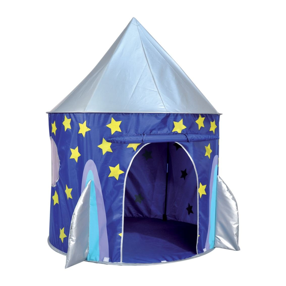 kids kingdom pop up space rocket play tent u0026 tunnel amazon co uk