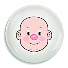 Fred & Friends MR FOOD FACE Kids' Ceramic Dinner Plate